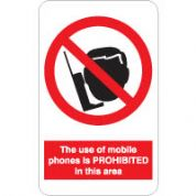 Prohibition safety sign - Mobile Phones 188